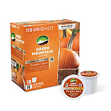 Green Mountain Coffee Pods Pumpkin Spice