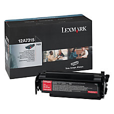 Lexmark 12A7315 High Yield Black Toner
