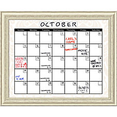 Amanti Art Beige Damask Calendar Dry