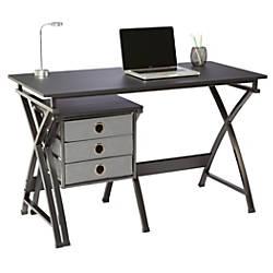 Brenton Studio X Cross Desk And File Set Black By Office