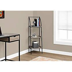 Monarch Specialties 3 Shelf Metal Bookcase
