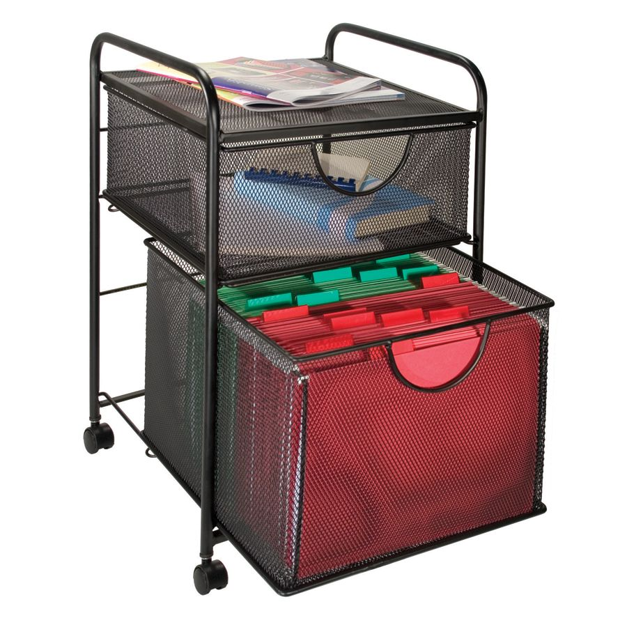 Roll Around File Cabinets File Storage Carts At Office Depot Officemax