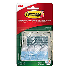 Command Outdoor Light Clips With Foam