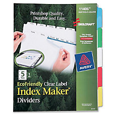 SKILCRAFT Index Maker Clear Label Dividers