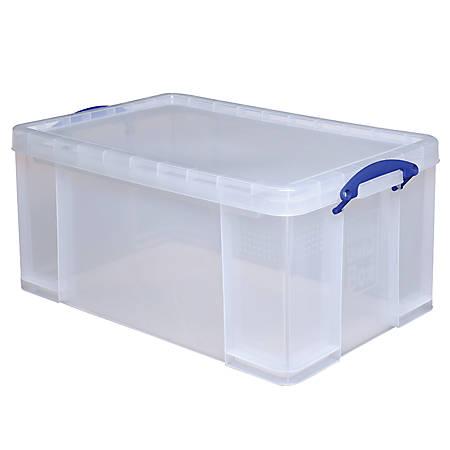 Really Useful Box Plastic Storage Box 64 Liters 28 X 17