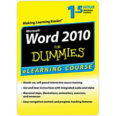 Word 2010 For Dummies 6 Month