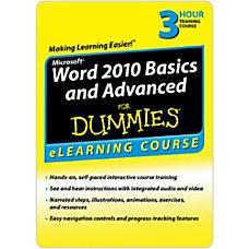 Word 2010 Basics Advanced For Dummies