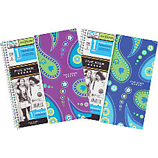 Five Star Style Notebook 8 12