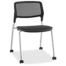 Lorell Stackable Guest Chairs Black Seat