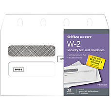 Office Depot Brand Double Window Self