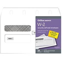 Office Depot Brand Double Window Self