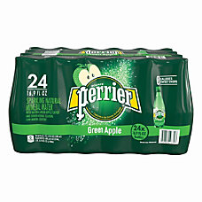Perrier Flavored Sparkling Mineral Water Green