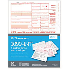 Office Depot Brand 1099 INT Laser