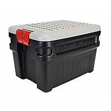 24 GAL STORAGE CONTAINERBLACK WITH GRAY