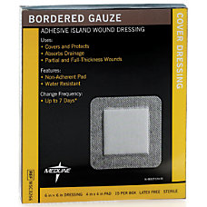Medline Sterile Border Gauze Pads 6