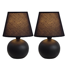 Simple Designs Mini Globe Table Lamps