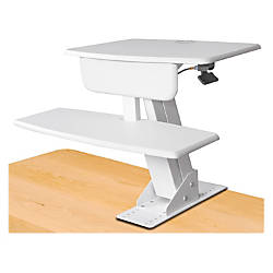 Kantek Desk Mounted Sit To Stand Workstation White By