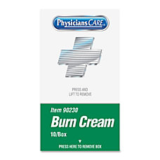 Acme Burn Cream Packets Box Of