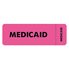 Tabbies Permanent Medicaid Insurance Label Roll