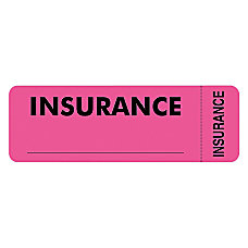 Tabbies Permanent Insurance Label Roll Pink