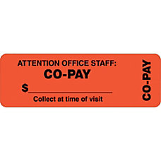 Tabbies Permanent Co Pay Wrap Label
