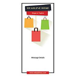 Custom Vertical Banner Shopping Bags