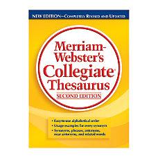 Merriam Websters Collegiate Thesaurus 2nd Edition