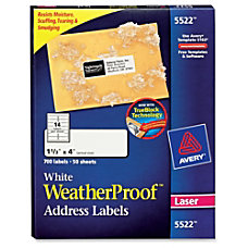 Avery Weather Proof Mailing Label Permanent