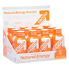 EBOOST Energy Vitamin Shots Natural Orange