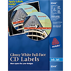 Avery Full Face Inkjet CDDVD Labels