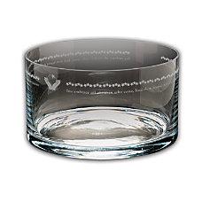 Embrace All Children Large Crystal Bowl