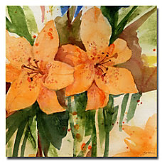 Trademark Global Tiger Lilies Gallery Wrapped