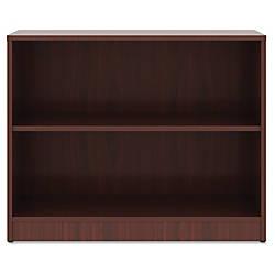 Lorell Mahogany Laminate Bookcase 295 Height