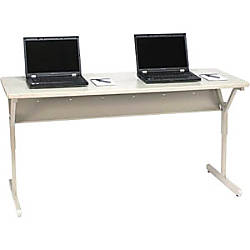 Bretford Work Center Computer Desk Gray By Office Depot
