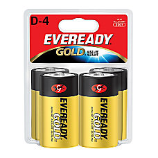 Eveready Gold Alkaline D Batteries Pack