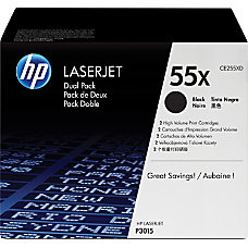 HP 55X Black Original Toner Cartridges