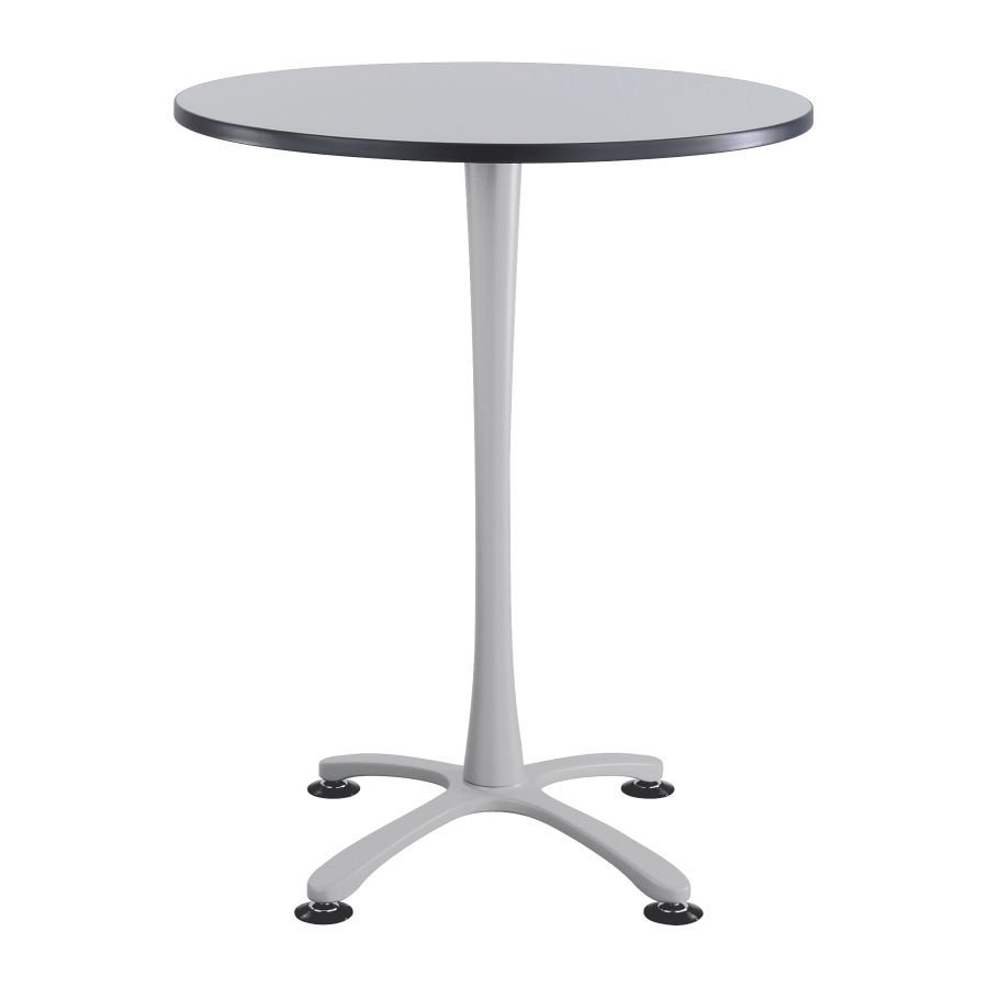 Safco Cha Cha X Base Bistro Height Table GraySilver by Office