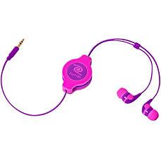 ReTrak Retractable Earbuds Neon PinkPurple