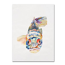 Trademark Global Blue Fish Gallery Wrapped