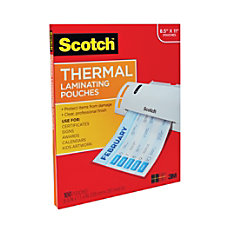 Scotch Thermal Laminating Pouches 89 x