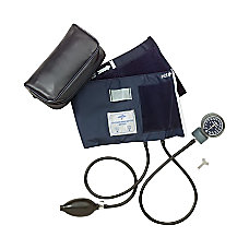 Medline Handheld Aneroid Sphygmomanometer Adult Blue