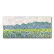 Trademark Global Field Of Yellow Irises