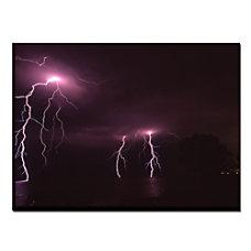 Trademark Global Lake Lightning Gallery Wrapped
