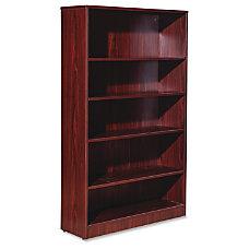 Lorell Essentials Series Mahogany Laminate Bookcase