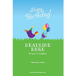 Custom Vertical Poster Birthday Birds