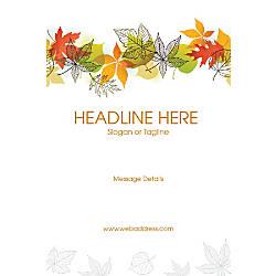 Custom Vertical Poster Color Leaves