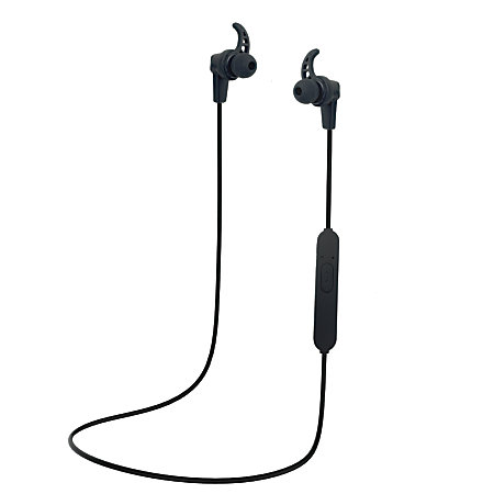 iconcept bluetooth earbud headphones black icbteb1 by office depot officemax. Black Bedroom Furniture Sets. Home Design Ideas