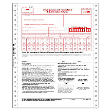 ComplyRight 1096 Continuous Tax Forms Transmittal