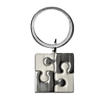 Puzzle Keyring 1 x 1 Matte