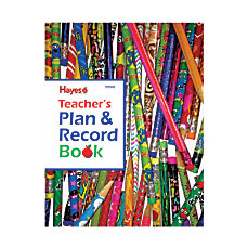 Hayes Teachers Plan And Record Books